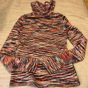 The Limited Colorful Spacedye Sweater w/ Cowl Neck
